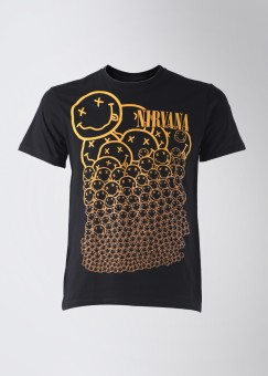 Nirvana Round Neck Round Neck Printed Men's T-shirt: T-Shirt
