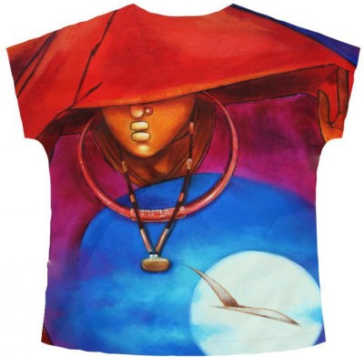 Freecultr Express Graphic Print Women's V-neck T-Shirt