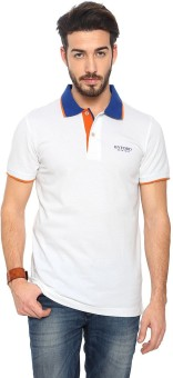 Byford By Pantaloons Solid Men's Polo T-Shirt