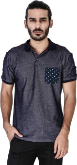 Mr Button Solid Men's Polo Neck T-Shirt - TSHE6G4TXQVZKBZY