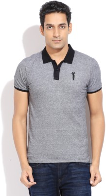 Bossini BOSSINI Solid Men's Polo T-Shirt (Grey)