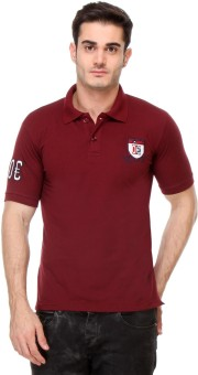 Rose Taylor Striped Men's Polo Brown T-Shirt