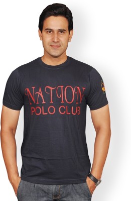 Nation Polo Club Printed Men's Round Neck T-Shirt