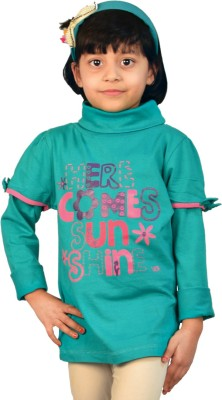 TSG Breeze Printed Girl's Turtle Neck T-Shirt