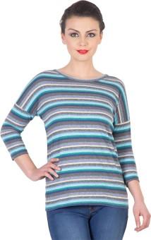 Hypernation Striped Women's Round Neck T-Shirt - TSHE55HGGBWFGXVV