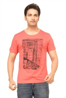 TSG Escape Printed Men's Round Neck Red T-Shirt