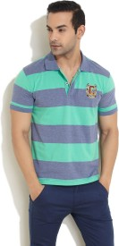 Cherokee Striped Men's Polo T-Shirt