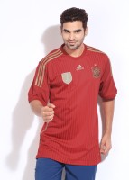 Adidas Spain Home FIFA Jersey Striped Men's Round Neck T-Shirt