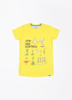 Nauti Nati Printed Boy's Round Neck T-Shirt