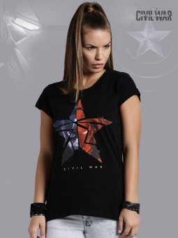 Kook N Keech Marvel Graphic Print Women's Round Neck T-Shirt