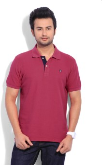 American Swan Solid Men Polo Neck Tshirt