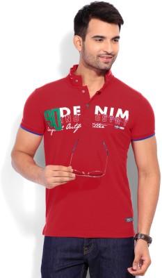 Duke Duke Printed Men's Polo T-Shirt (Red)