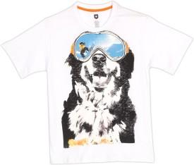 612 League Printed Boy's Round Neck White T-shirt - TSHEKHKF3CYZFZQW