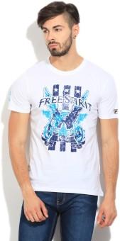 Fila Printed Men's Round Neck White T-Shirt