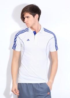 adidas Solid Men's Polo Neck T-Shirt: T-Shirt