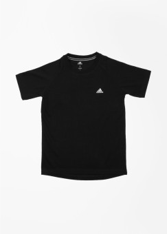 Adidas Solid Girl's Round Neck T-Shirt