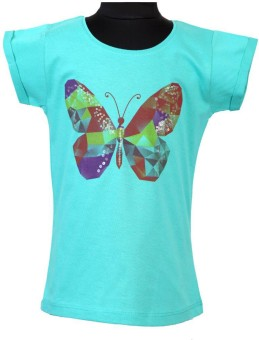 Tales & Stories Graphic Print, Self Design Girl's Round Neck T-Shirt