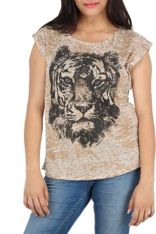 Download Apparel Printed Women's Round Neck T-Shirt