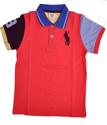 Babyaddis Printed Boy's Polo Neck T-Shirt
