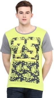 Yepme Graphic Print Men's Scoop Neck Green T-Shirt