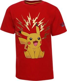 Pokemon Printed Boy's Round Neck Red T-Shirt