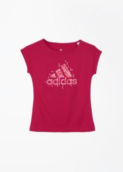 Adidas Printed Girl's, Boy's Round Neck T-Shirt