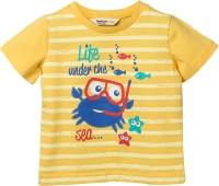 Beebay Graphic Print Baby Boy's Round Neck Yellow T-Shirt