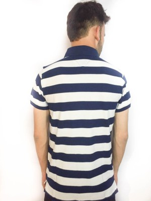 ARMOIRE-Striped-Boys,-Mens-Polo-Blue,-White-T-Shirt