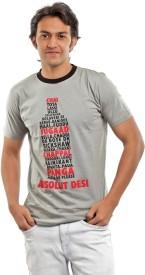 BG69 Graphic Print Men's Round Neck T-Shirt
