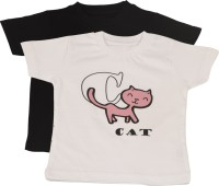 TSG My Kid Printed Baby Boy's, Baby Girl's Round Neck T-Shirt (Pack Of 2) - TSHED8AU6EGEXFAT