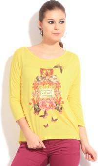 Being Human Clothing Printed Women's Round Neck T-Shirt
