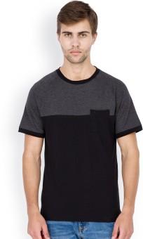 Elaborado Solid Men's Round Neck Grey T-Shirt