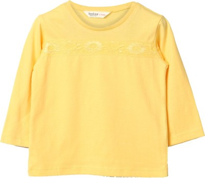 Beebay Solid Baby Girl's Round Neck T-Shirt