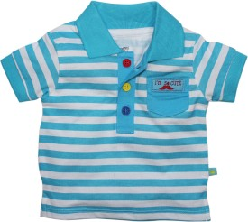 FS Mini Klub Striped Baby Boy's Polo Neck T-Shirt