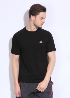 adidas Solid Men's Round Neck T-Shirt: T-Shirt