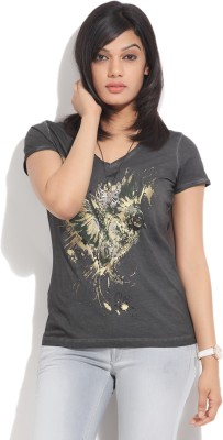 GAS Printed Women's V-neck T-Shirt