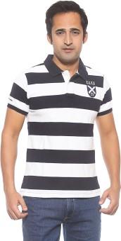 Pepe Striped Men's Polo Brown T-Shirt