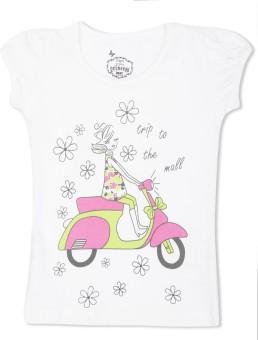 Max Graphic Print Girl's Round Neck T-Shirt - TSHE4CERAVQYTGKH