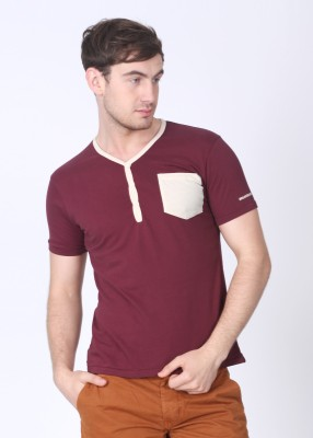 Breakbounce Solid Men's Henley T-Shirt (Get Flat 60% Off on this product.See Final Price in Cart.)