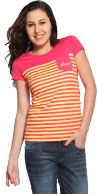 Maatra Striped Women,s Round Neck T-Shirt