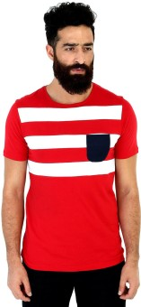 Mr Button Solid Men's Round Neck T-Shirt