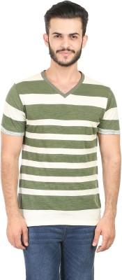 Habitude Striped Men's V-neck T-Shirt