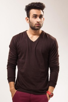 Unisopent Designs Solid Men's V-neck T-Shirt: T-Shirt