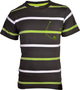 Bio Kid Multicolor Striped Boy's Round Neck T-Shirt - TSHE58WZU9RGXGZH