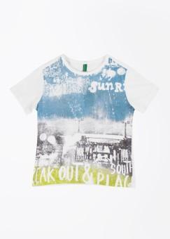 United Colors Of Benetton Printed Boy's Round Neck T-Shirt - TSHE5N6HPFMC9NHY