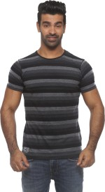 Pepe Striped Men's Round Neck Blue T-Shirt