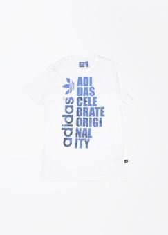 Adidas Originals Graphic Print Men's Round Neck White, Blue T-Shirt