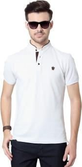 Byford By Pantaloons Solid Men's Mandarin Collar T-Shirt