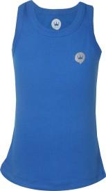 Vitamins Solid Girl's Round Neck Dark Blue T-Shirt