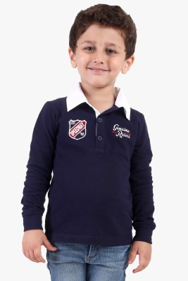 Beebay Solid Baby Boy's Polo Neck T-Shirt